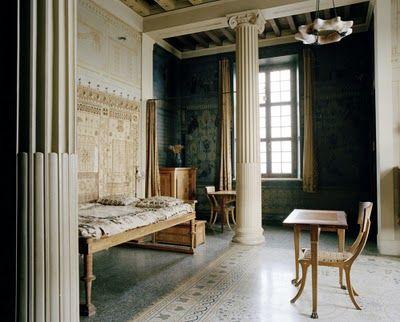 column, alcove: Villa Kerylos (Beaulieu-sur-Mer, France) | a mix |  Pinterest | Alcove, Columns and Villas