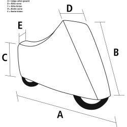 Polo Quad Atv Outdoor Motorrad Abdeckplane Schwarz Grosse Xl Fur