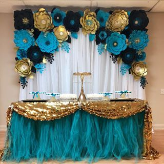 Teal Black And Gold Perfect Combination For This Birthday Grad