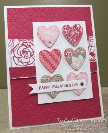 All My Love Scallop Hearts Lovely Lipstick Valentines Cards Valentines Day Cards Diy Valentine Day Cards