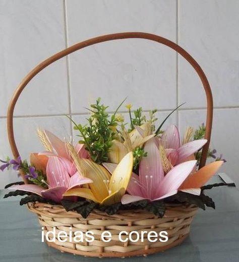 Arranjo De Flores Em Eva Cesta De Flores Arranjos De Flores E