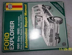 A Ford Explorer Repair Manual 1991 Thru 1995 Haynes 36024 2021 Mazda Navajo