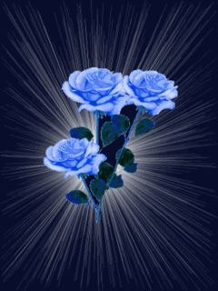 Blue Glitter Graphics | Animated GIFs » Flowers » blue and yellow roses