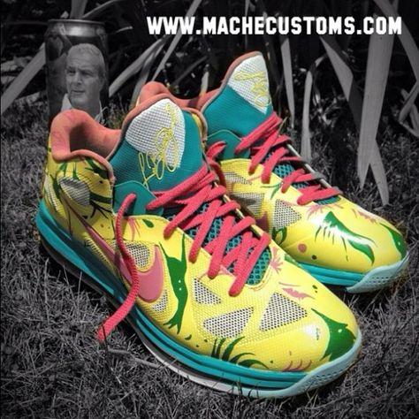 "best website 1492d 2dfa8 ... Mens Nike LeBron 9 Low ""LeBronold Palmer"" – Custom by Mache Chris  Pinterest Nike ..."