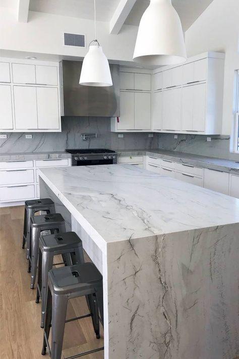 White Kitchen Cabinets, Kitchen Redo, New Kitchen, Kitchen Design, Kitchen Cabinets Design, Kitchen Taps, Cupboards, Kitchen Ideas, White Quartzite Countertops