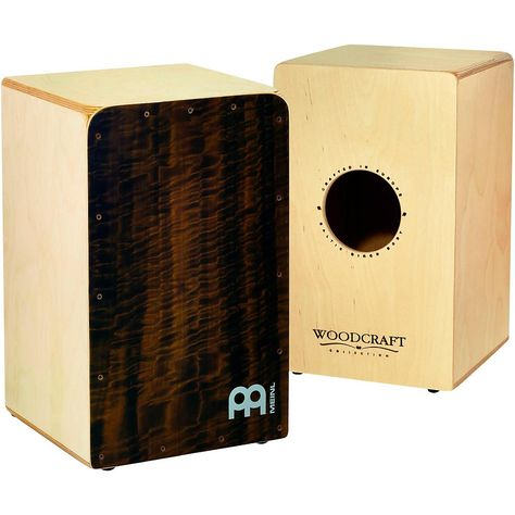 Woodcraft Collection Snare Cajon Quilted Eucalyptus Frontplate