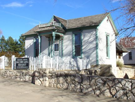 Dalton Gang hideout ~ in Meade, Kansas was the home of Eva Dalton Whipple, sister to the infamous Dalton Gang. Erosion uncovered the tunnel from the house to the barn, known as the gangs means of come and go.