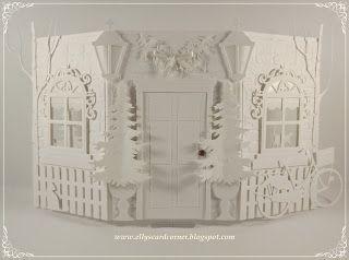 White Christmas house.