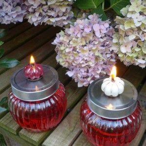 Ollampe Fur Terrasse Oder Garten Und Als Gastgschenk Fur Sommerpartys Ollampe Ollampe Selber Machen Kerzen Herstellen