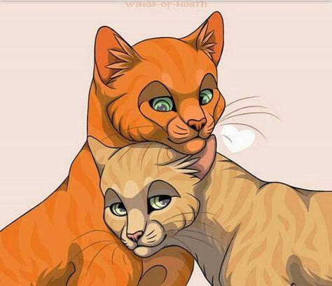 Firestar Sandstorm With Images Warrior Cats Warrior Cat