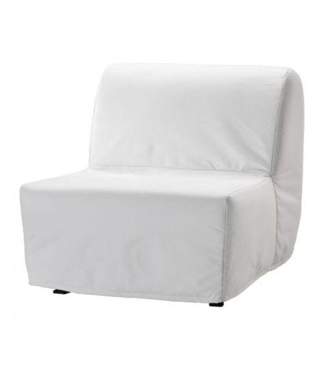LYCKSELE HAVET Izvelkams krēsls, Ransta balts | Mēbeles ...