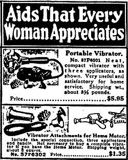 Sears Ad 1918....Doctors prescribed this to women with hysteria!  Little did the Doc know that a good spankin' at home would have did the trick!!!