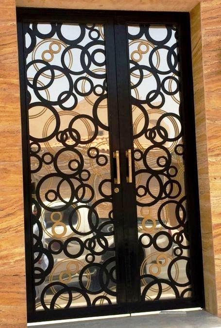 Portes En Fer Decoupee Au Laser Elegance Decors Portes En Fer Decoration Porte Decoration