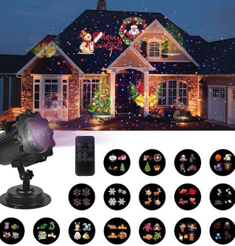 Comments Reviews New Unifun Christmas Lights Decorations Lights Projector Red Blue Star 16 Slides Led Landscape Projection Lights Christmas Year Holiday