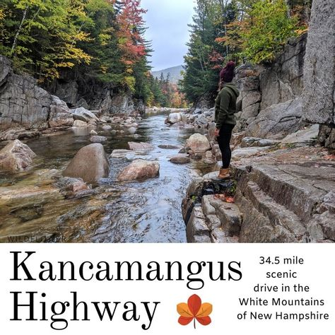 Kancamagus Highway Mile Scenic Drive through the White Mountains of New Hampshire New England Fall, New England Travel, England Christmas, Backpacking Europe, Portsmouth, Bora Bora, Belfast, Belize, Places To Travel