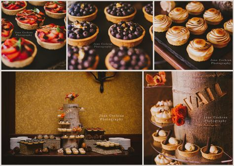 Looking for something other than a #wedding #cake - look no further than these little #bites of heaven. #Pies of all flavors (Blueberry, Strawberry, Rhubarb, Banana Cream, Pumpkin, Chocolate Peanut Butter, Bourbon Pecan & Key Lime). Our #pastry team @Four Seasons Resort Vail does it all. Photography © June Cochran