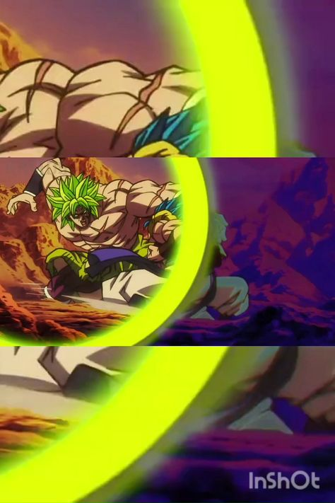 Fight Between Broly And Gogeta.