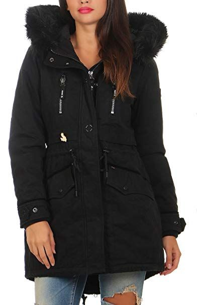 Khujo Damen Winter Jacke Mantel Freja 1067co173 200 200 Black Xs Winter Outfits Frauen Schnee Mode Wintermode Kalt Kaufen Gesch Khujo Damen Schnee Mode