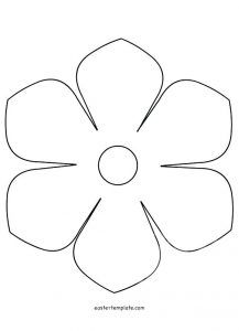 graphic relating to 5 Petal Flower Template Free Printable identified as Flower Template Cost-free Behavior In the direction of Hint Templates Be Contemporary 5