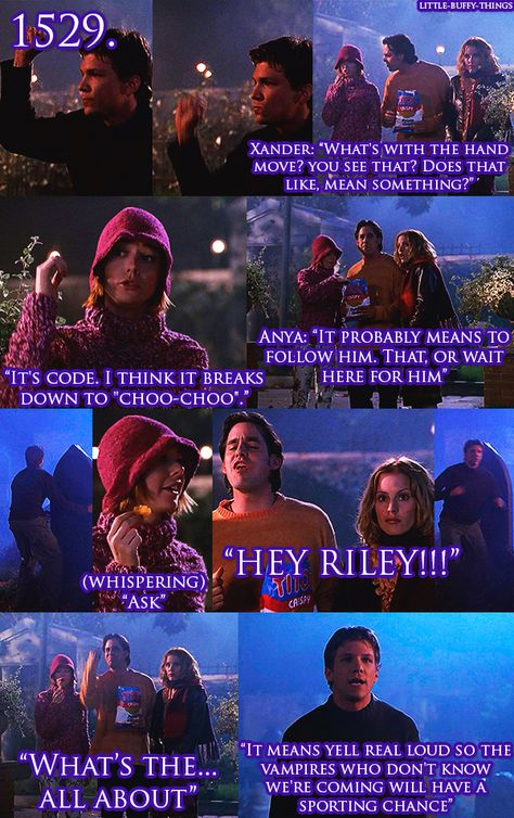 Riley's hand signals. Too funny. Although he is smart enough to know that if no one else knows them, like civilians perhaps, it's kinda a moot point. But yeah, it is a helluva lot funnier! (And it does mean hold your ground, aka stop.)