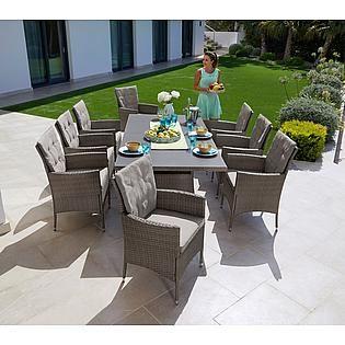 Konifera Gartenmobelset Santiago New 19 Tlg 6 Sessel Tisch