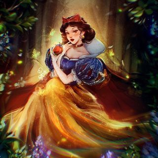 """ROY THE ART on Instagram: """"🍎SNOW WHITE🍎  _DISNEY PRINCESS FANART_  """"Magic mirror on the wall, who now is the fairest one of all?"""" Snow White, the titular protagonist…"""""""