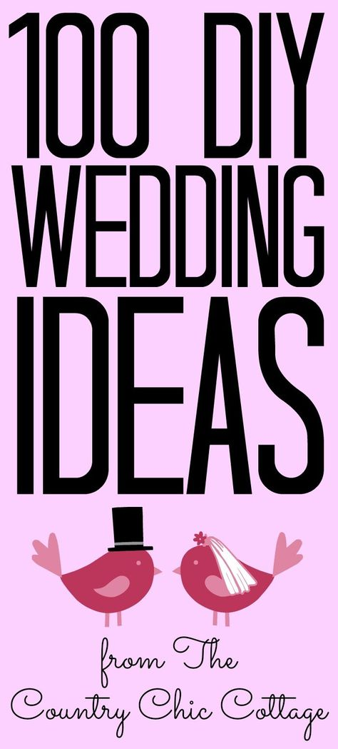 Over 100 DIY wedding ideas for you to try for your wedding ceremony! #wedding #diywedding #weddingideas