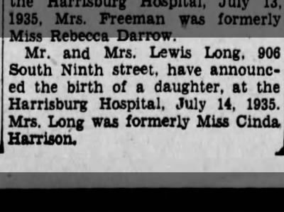 21 best Ancestry Long Family History images – Harrisburg Hospital Birth Announcements
