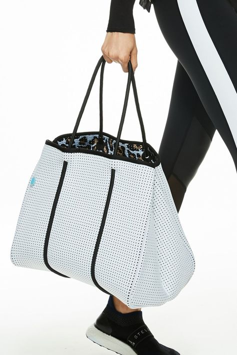 Grey tote bag jakard with leather handles -weekend bag beach bag eco bag for mom different colors Gift for her with print