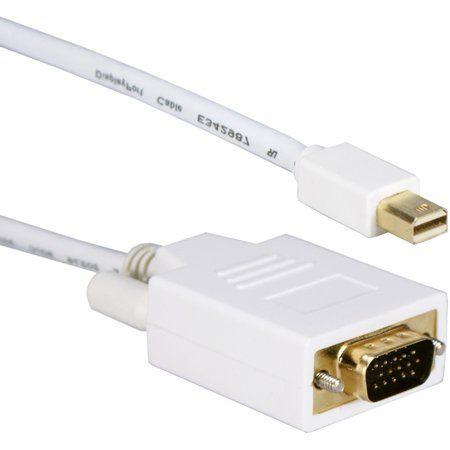 Qvs 10ft Mini Displayport To Vga Video Cable White In 2020 Vga Connector Cable Mini