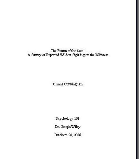 Sample Pages in MLA Format Costume Continuity book Essay title