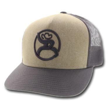 "HOOey Mens Hat Baseball Cap /""Roughy 2.0/"" Mesh Snap Back Marron Black 4340T"