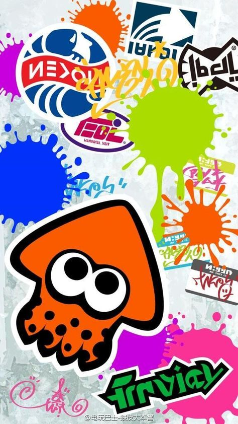 Splatoon Splatoon Fond Ecran Deco Gamer Et Coloriage