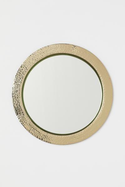 Miroir Rond Et Cadre En Metal Dore Home All H M Fr Round Mirrors Mirror Metal Frame