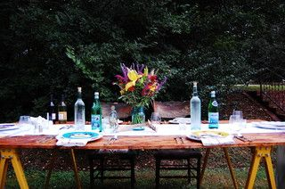 colorful summer tablescape