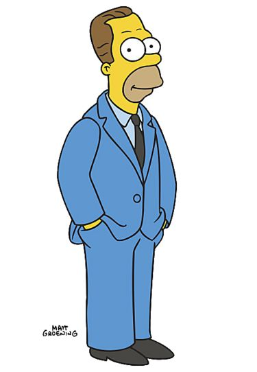 The Simpsons Herbert Powell Homer S Long Lost Half Brother En