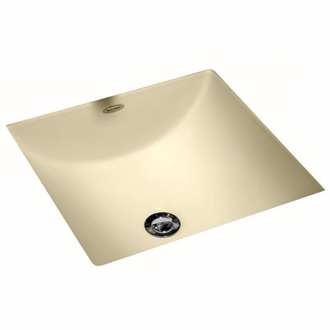 American Standard Studio Carre Square Undercounter Bathroom Sink With Less Faucet Deck In Bone Ivory Sink Undermount Bathroom Sink Square Bathroom Sink