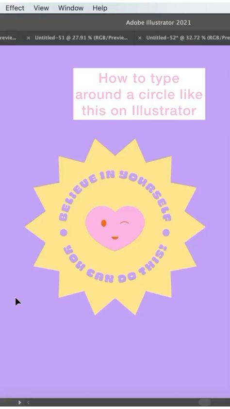 Type in a circle tutorial in Illustrator by @monique.design ! ✨
