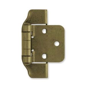 H01915c Ae Antique English Brass 1 2 Overlay Semi Wrap Hinge 2 Pack Overlay Hinges Overlay Cabinet Hinges Liberty Hardware
