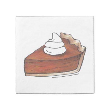 Classic Pumpkin Pie Slice Thanksgiving Dinner Food Napkin - home decor  design art diy cyo custom 7eaa9f832752