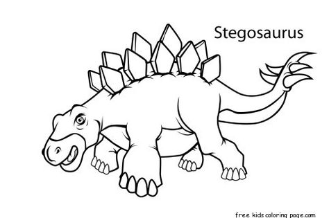Printable Stegosaurus Dinosaur Coloring Pages For Kids Dinosaur