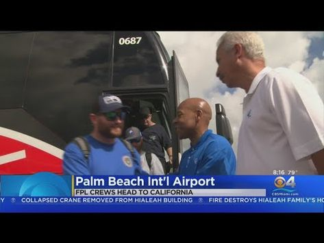 FPL Crews Head To California To Help Wildfires Recovery Efforts - YouTube