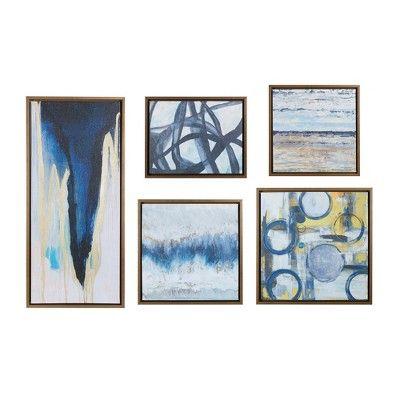 Bliss Gallery Art 5pc Decorative Wall Art Set Natural Target Canvas Wall Art Canvas Wall Art Set Framed Wall Art
