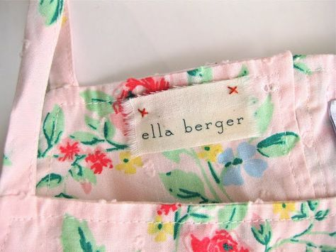 DIY make fabric name tags on muslin to sew into your child's clothing