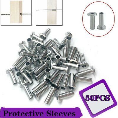 Ad Ebay 50pcs For 1 8 5 32 3 16 Cable Railing T316 Stainless Steel Protective Sleeves In 2020 Cable Railing Stainless Steel Wire Railing