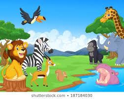Image Result For Watering Hole Clip Art Cartoon Animals Safari Animals Kids Cartoon Characters