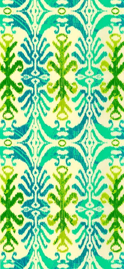 Aqua lime green teal floral pattern www.equilter.com