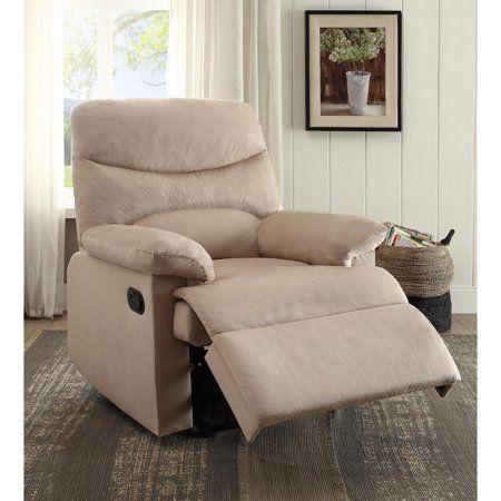 Oakwood Woven Fabric Recliner Beige Walmart Com In 2020 Recliner Acme Furniture Furniture