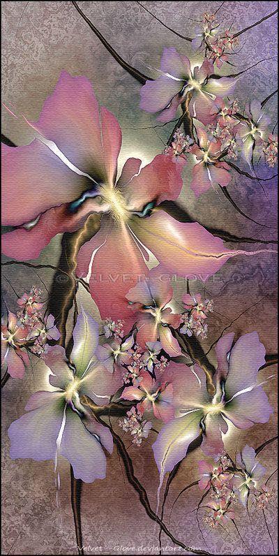 Wallpaper Smartphone Case Hp Indonesia Lukisan Bunga Lukisan Abstrak Karya Seni Fantasi