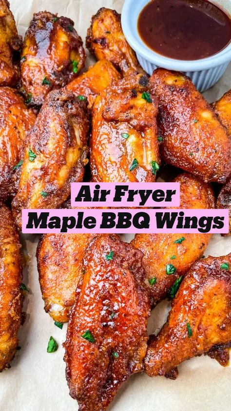 Air Fryer Maple BBQ Wings